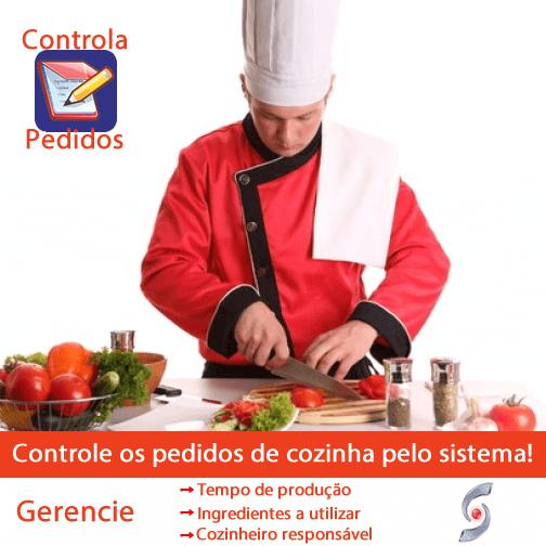 Controle os pedidos da cozinha pelo sistema